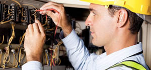 Clifford electrician installing new panel